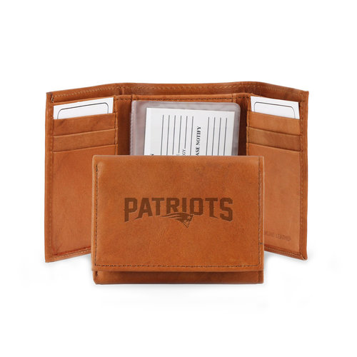 NFL New England Patriots Leather Trifold Wallet