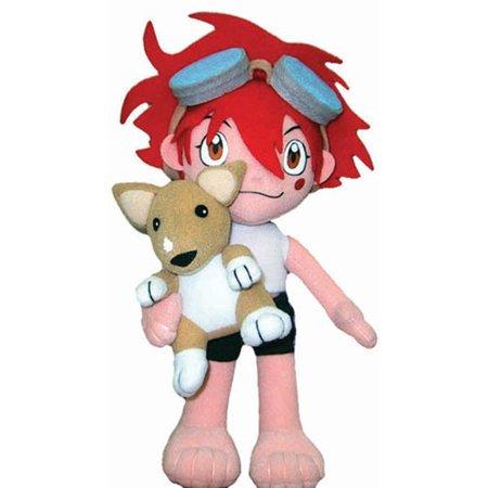 Plush - Cowboy Bebop - Ed w/Ein 8'' Chibi SD Soft Doll Toy New Anime ge6011