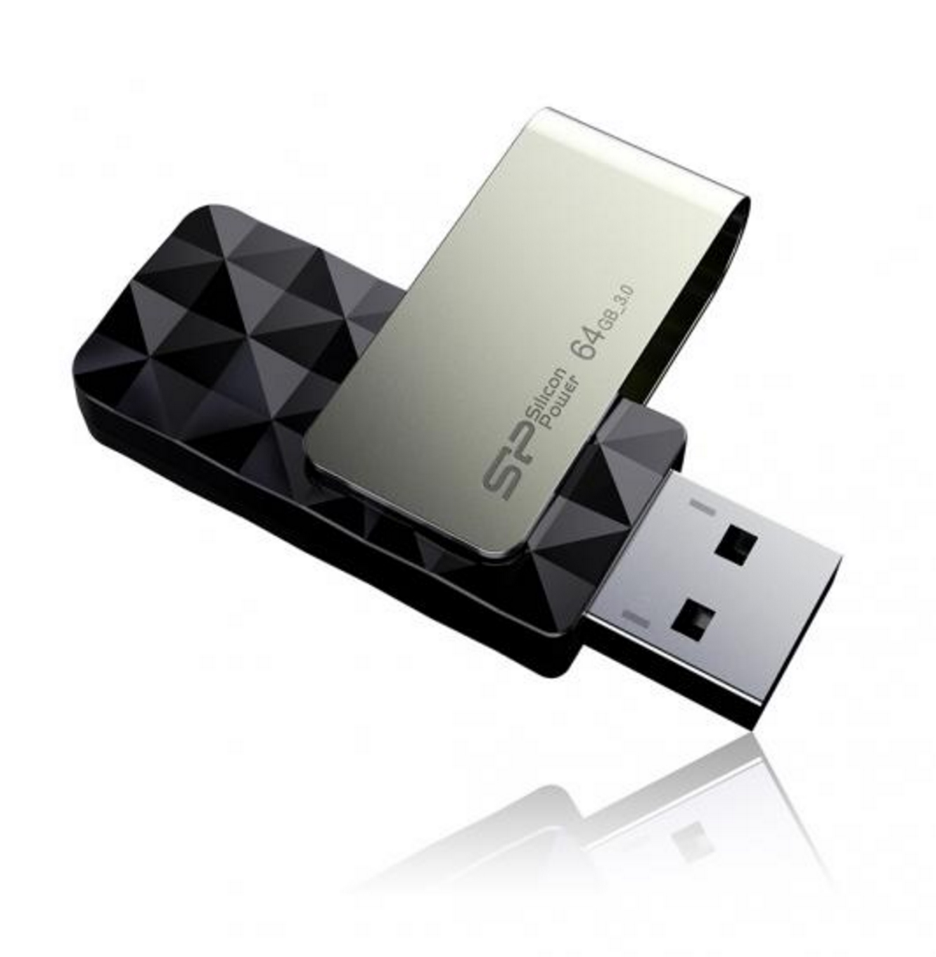 64GB Silicon Power B30 Blaze USB3.0 Flash Drive Swivel Style Black