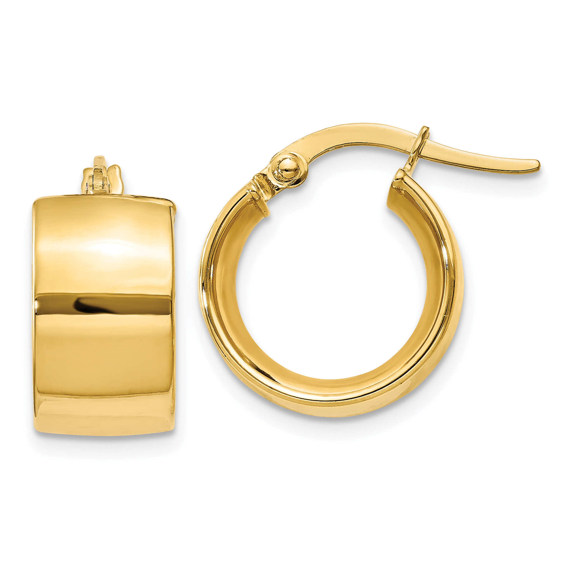 14k Yellow Gold  7.75mm Polished Round Hoop (7.75x11mm) Earrings