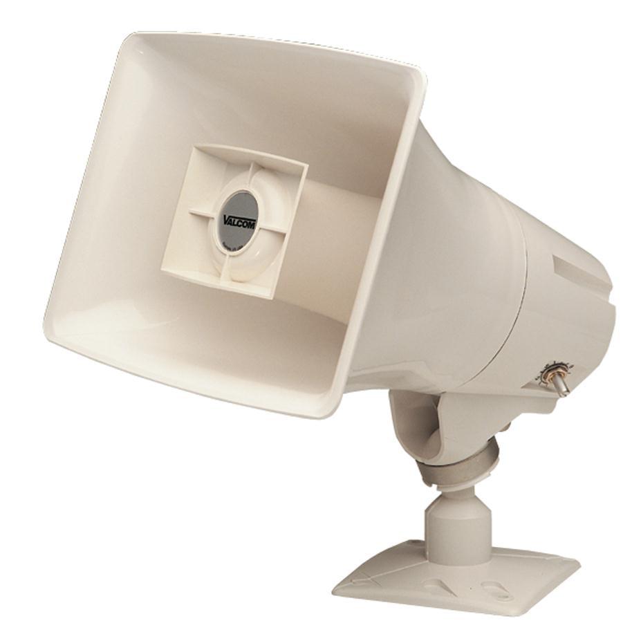 Valcom V 1030M 5 Watt, One Way Marine Horn Speaker, Indoor Outdoor Use by Valcom