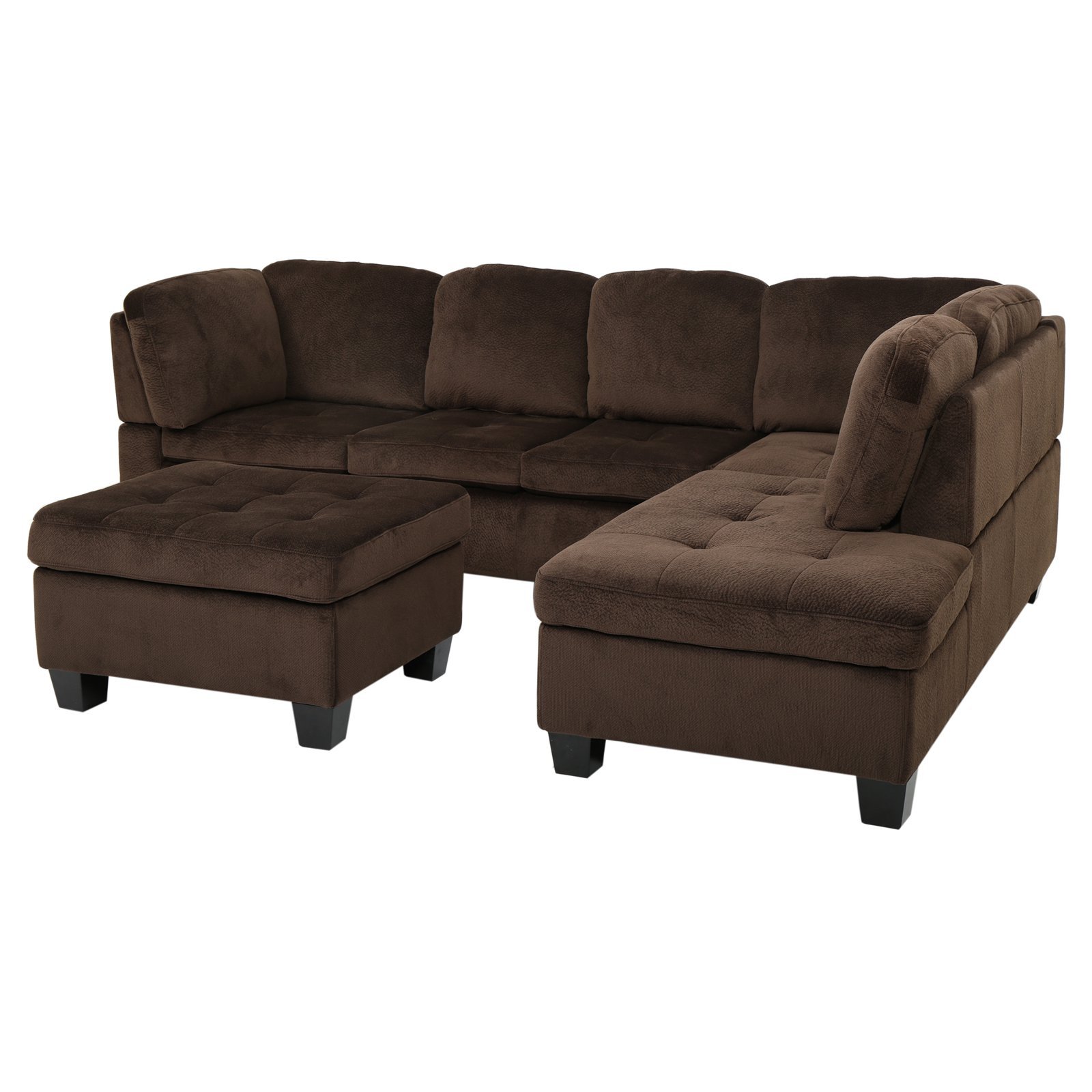 huge discount 76186 14830 Evan 3 Piece Sectional Sofa