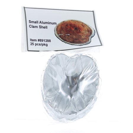 Set of 25 Small Aluminum Clam Shell Serving Appetizer Dish - Aluminum Serving Dish
