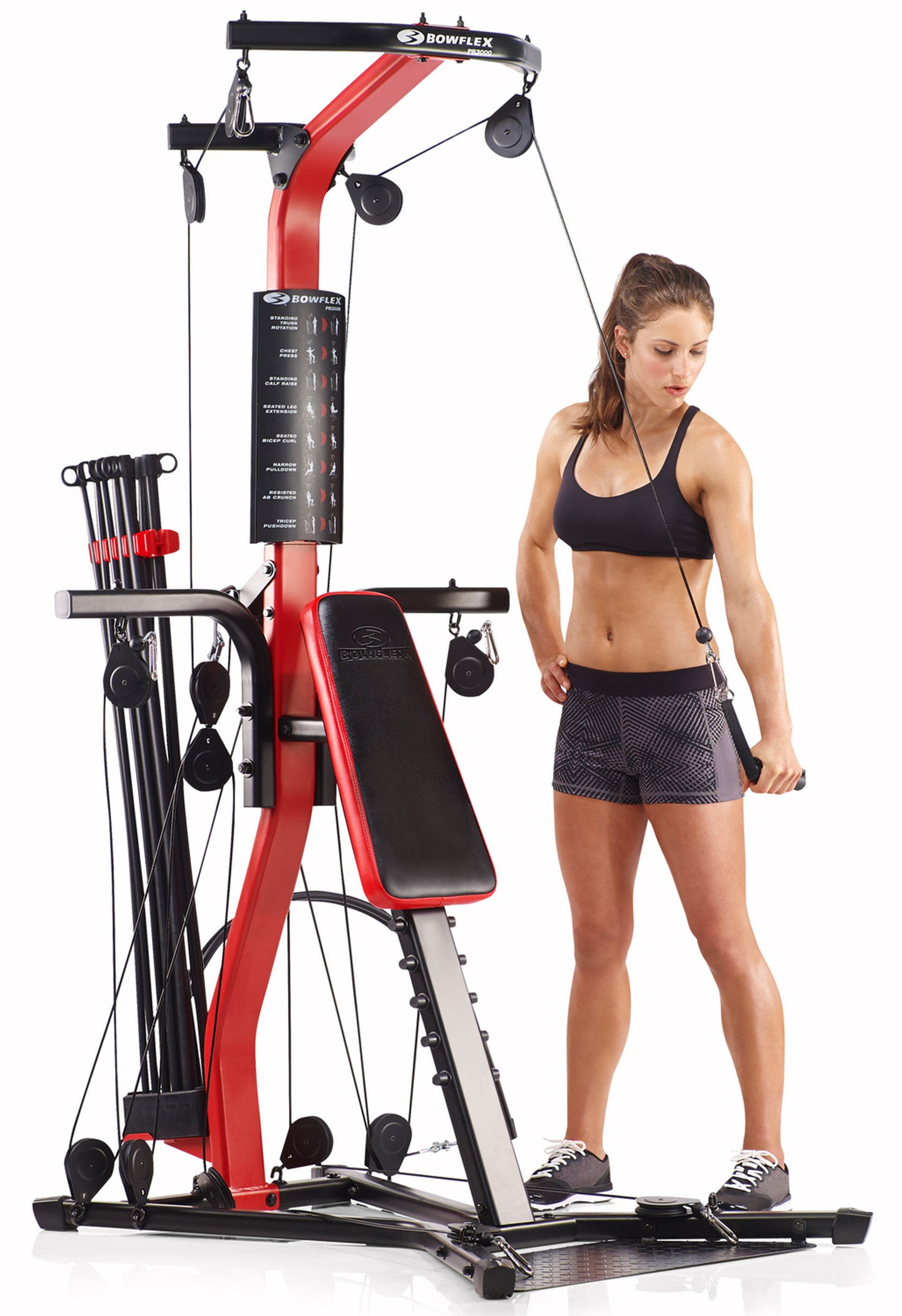 Bowflex PR3000 Home Gym with 50+ Exercises and 210 lbs. Power Rod...