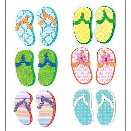 K & Company Dimensional Stickers, Flip Flop
