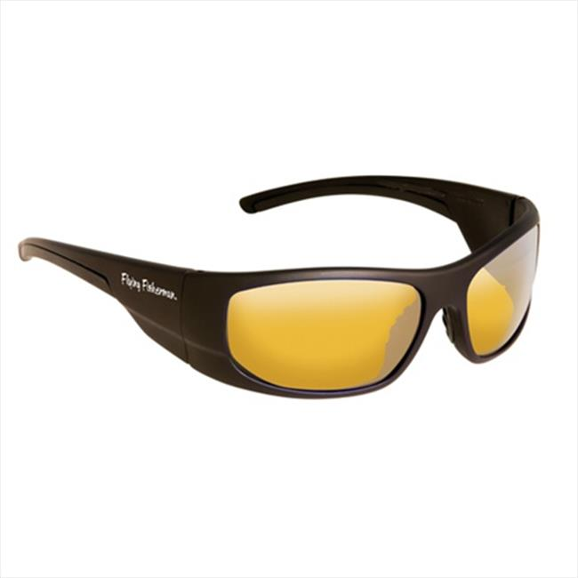 Cape Horn Sunglasses in Matte Black-Yellow Amber