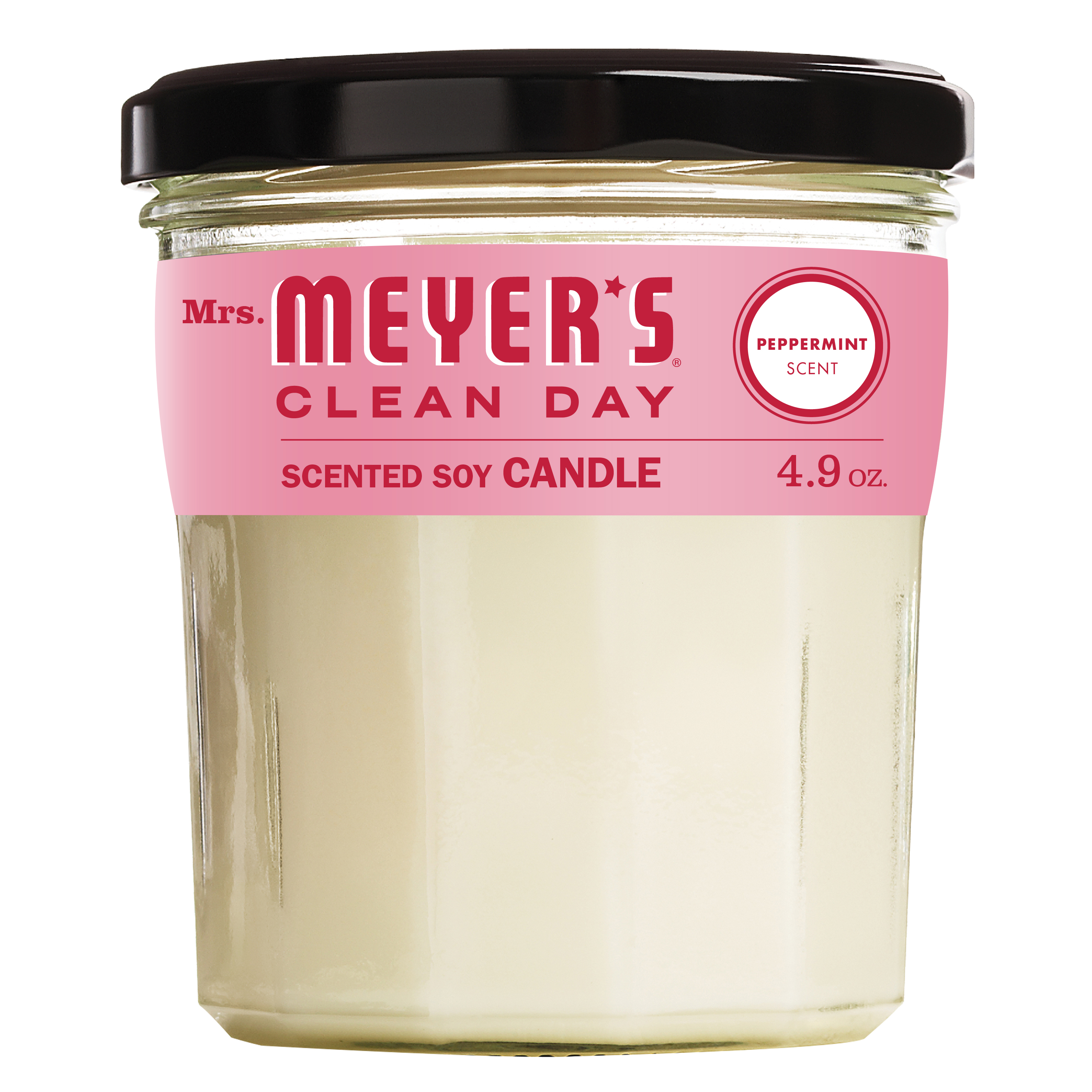 Mrs. Meyer's Clean Day Scented Soy Candle, Small Glass, Peppermint, 4.9 oz