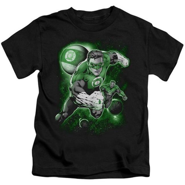 Green Lantern-Lantern Planet Short Sleeve Juvenile 18-1 Tee, Black - Large 7