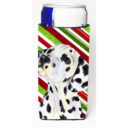 Carolines Treasures SS4561MUK Dalmatian Candy Cane Holiday Christmas Michelob Ultra s For Slim Cans - 12 oz. - image 1 of 1