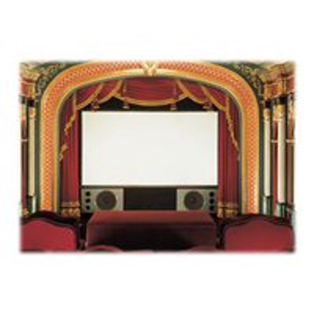 """Cineperm Cineflex Fixed Frame Projection Screen Viewing Area: 7' H x 6"""" W"""