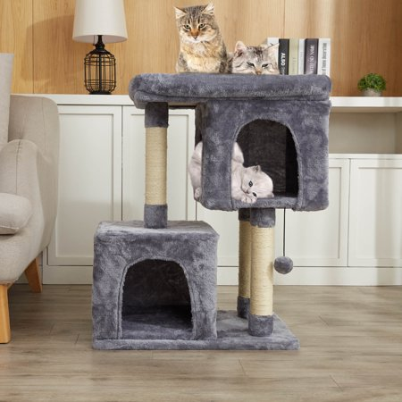 3 Tiers 2 Big Condo House For Multiple Large Cats Indoor With Jungle Gym Cat Toy Walmart Canada