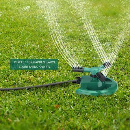 VicTsing Water Sprinkler System Impulse Long Range Sprinklers with Metal Weights for Garden and