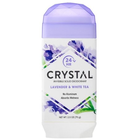 Crystal Invisible Solid Deodorant Stick, Lavender & White Tea, 2.5 oz