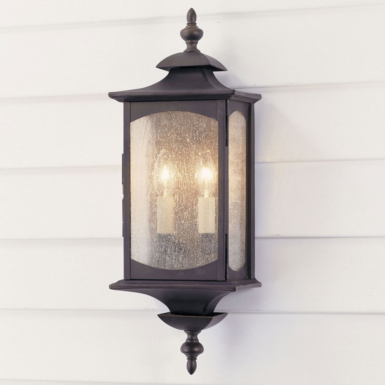 Feiss Market Square Outdoor Wall Lantern - 19H in. Oil Rubbed Bronze