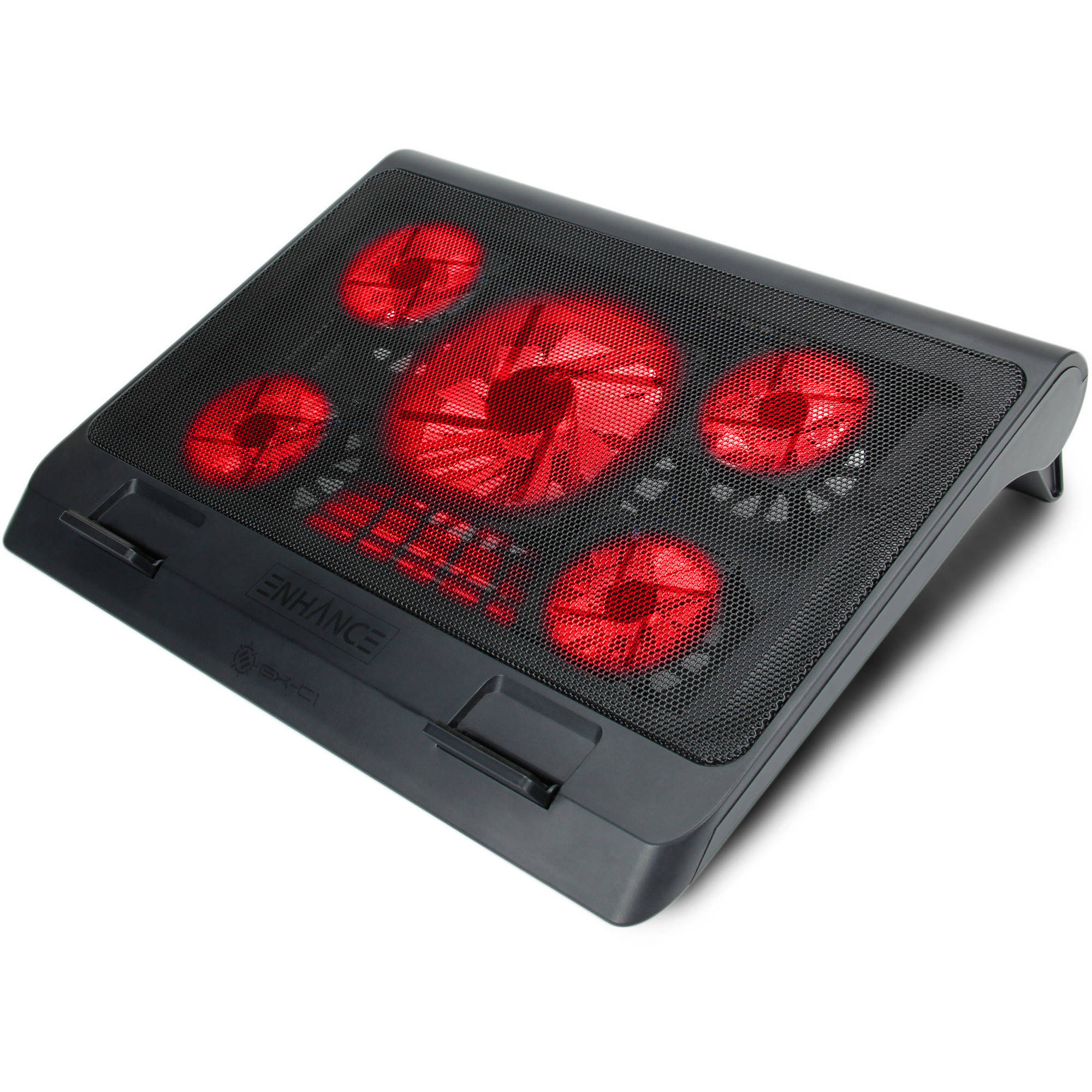 ENHANCE XL Gaming Laptop Cooler Pad with 5 Oversized LED Fans for Max Cooling , Adjustable Viewing Stand , 2... by Alienware