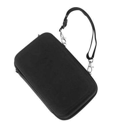 Little Black Travel Case - Insten Nintendo Switch Car Mounting Travel Carrying Case [Full Protection] with Hand Strap / 10 Card Slots EVA Hard Shell Case For Nintendo Switch Console Black with Zipper