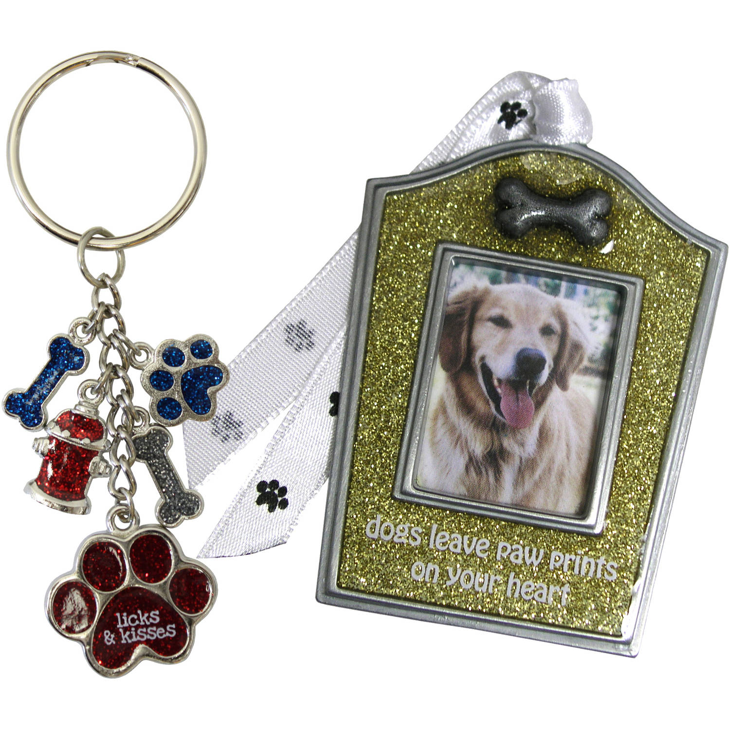 Gloria Duchin Dog Christmas Ornament and Keychain Gift Set