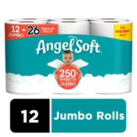 Angel Soft Toilet Paper, 12 Jumbo Rolls