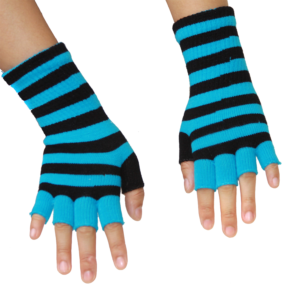 Punk Rock Knit Fingerless Gloves