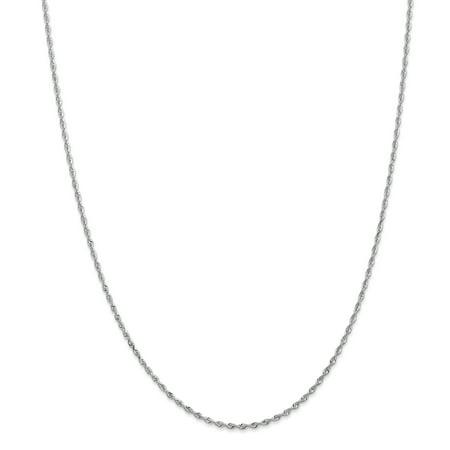 10kt White Gold 1.84mm D/C Quadruple Rope