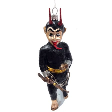 Krampus with Branches and Chains Polish Glass Christmas Tree Ornament Decoration - Krampus The Christmas Demon