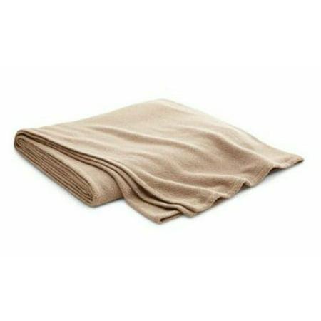Ralph Lauren Park Avenue Modern Madden Bed Blanket Full Queen Oatmeal