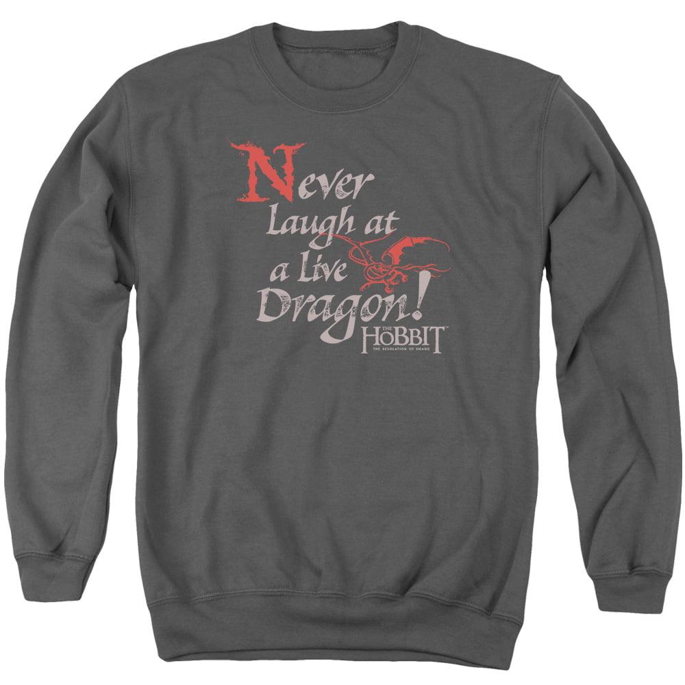 Never Laugh Adult Crewneck Sweatshirt Hobbit