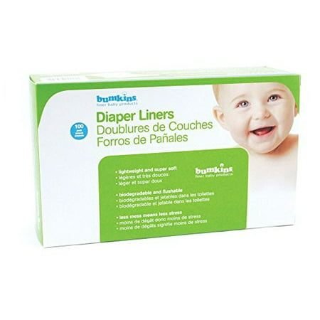 Bumkins Flushable Diaper Liners, 100 Ct