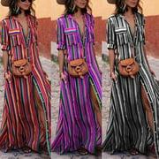 Women Boho Floral Maxi Long Dress Summer Evening Party Beach Sundress Plus Sizes