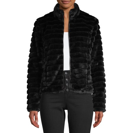 Kendall + Kylie Women's Faux Fur Coat