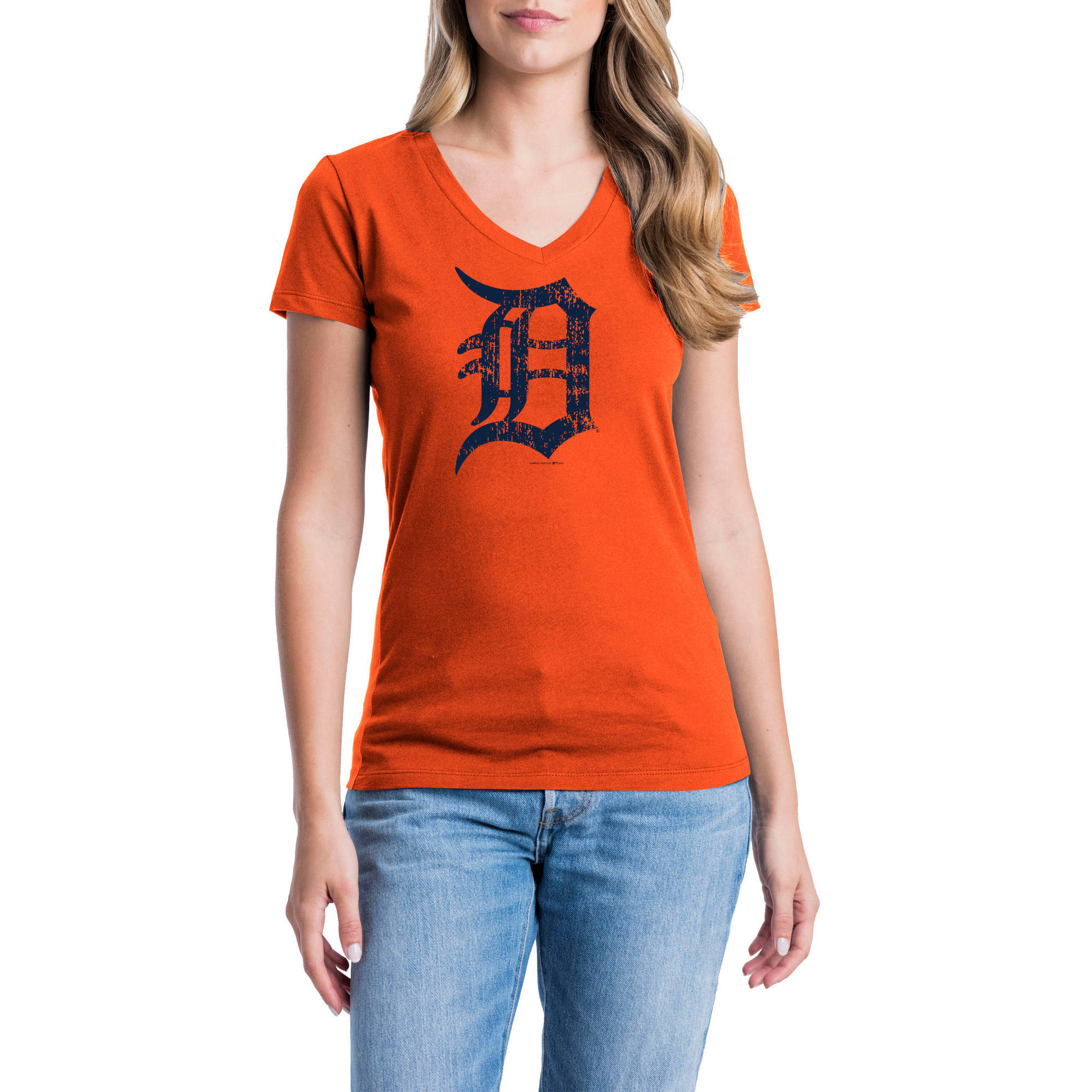 Detroit Tigers Womens Short Sleeve Graphic Tee
