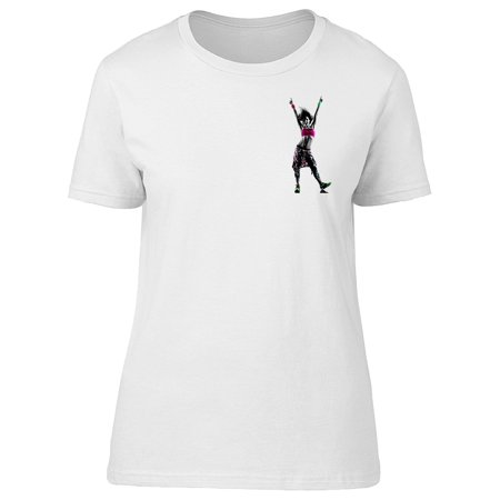 Woman Zumba Fitness Dancer Tee Women's -Image by (Best Clothes For Zumba)