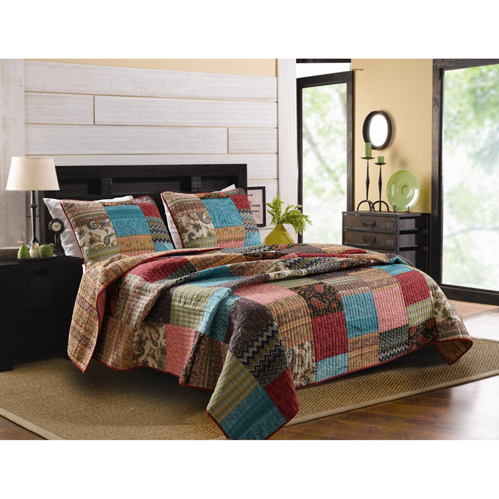 greenland home fashions new bohemian quilt set - Greenland Home Fashions