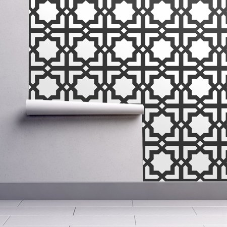 Peel And Stick Removable Wallpaper Moroccan Moroccan Black White Geo Miss