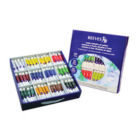 Reeves Full Body Water Mixable Oil Color Set, 0.45 Ounce Tubes, Assorted Color, Set of 144