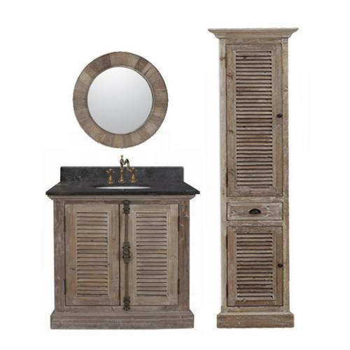 Legion Furniture 36 Inch Marble Top Single Sink Rustic Bathroom