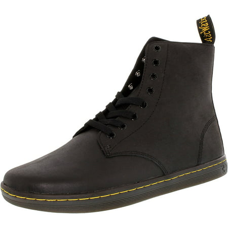 Dr. Martens Men's Tobias Black High-Top Leather Fashion Sneaker -