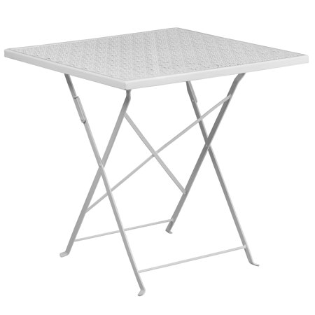 Flash Furniture 28'' Square Indoor-Outdoor Steel Folding Patio Table, Multiple Colors ()