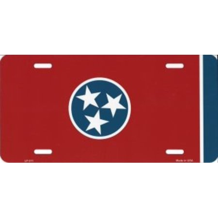 Tennessee State Flag Metal License Plate