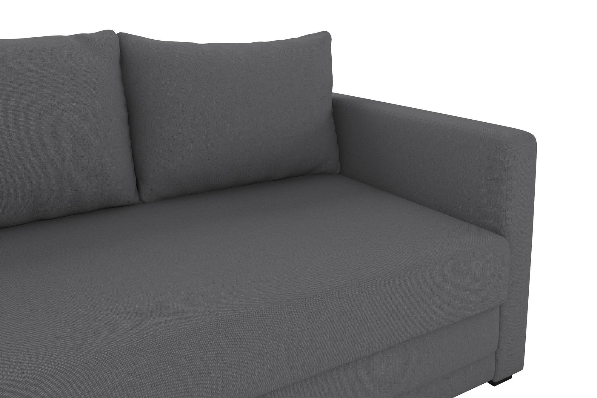 Grey Loveseat Sleeper Convertible Modern Sofa Pull Out Couch Pullout Bed