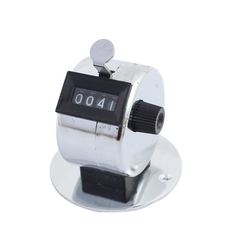 5Pcs Silver 4 Digits Metal Base Resettable Handheld Number Mechanical Counter - image 2 of 4