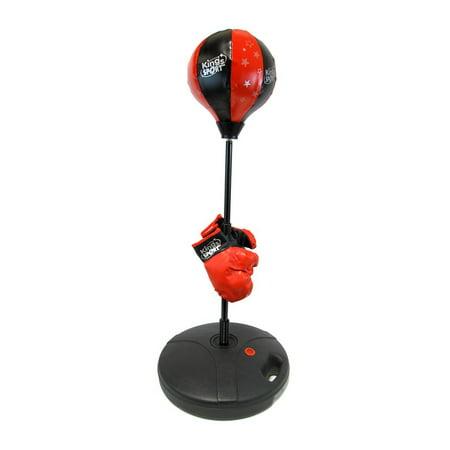 Pro Kid Boxer Children's Beginning Freestanding Reflex Punching Bag w/ Pair of Gloves, Adjustable Height 48