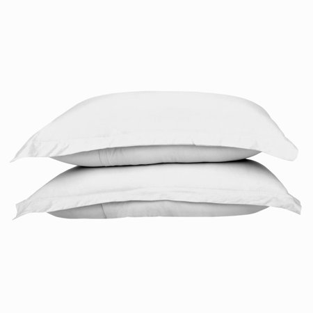 Exclusive Fabrics  100% Combed Cotton Jersey Pillow Case Set with Aloe Vera Treatment (Set of 2) - (20 x - White Vhs Case