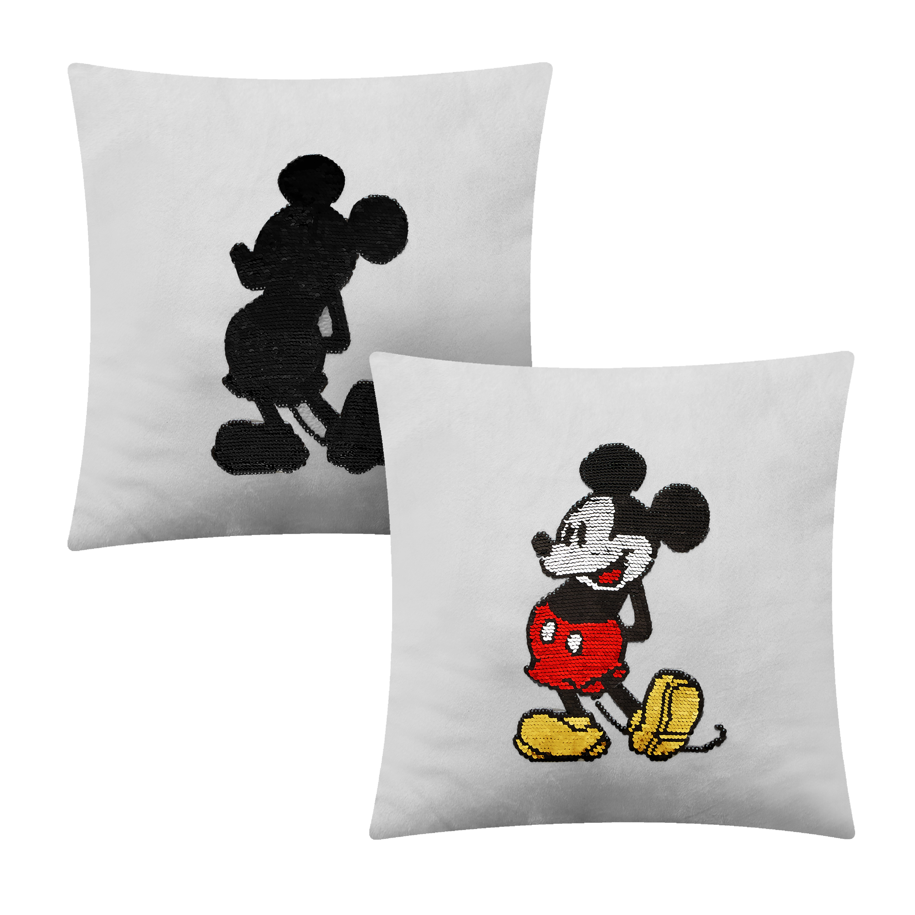 Mickey Mouse Sequin Reversible Throw Pillow