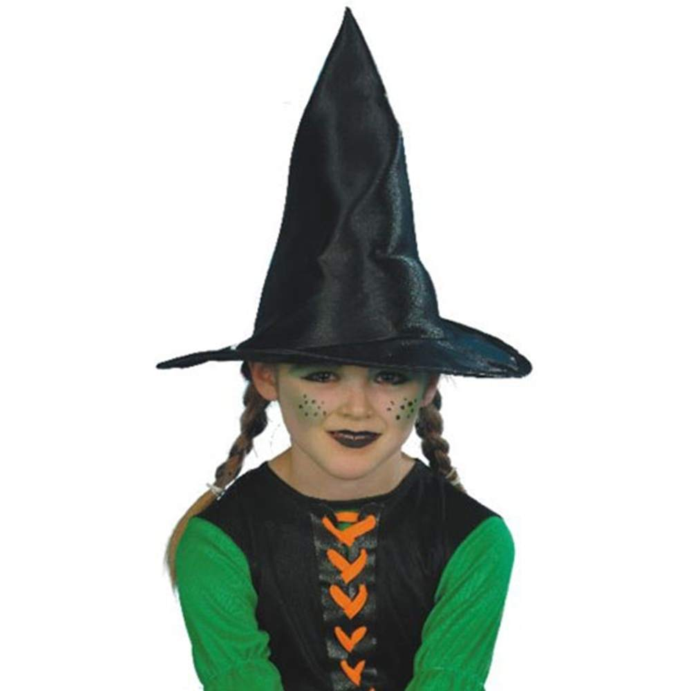 Black Witch Hat Fabric Child