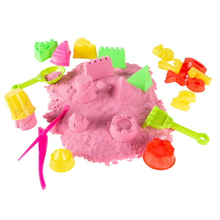Moldable Kinetic Play Activity Set-2lbs. Non-Toxic Sculpting Sand with 35 Toys and Tools-Fun Creative Sensory Play for Boys and Girls by Hey! Play! - Bulk Play Sand