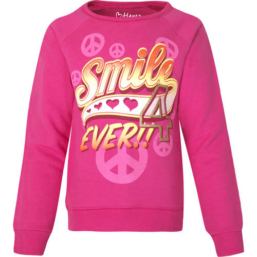 Hanes Girls' Graphic Crewneck Sweatshirt