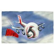 Airplane Postet Bath Towel White 27X52