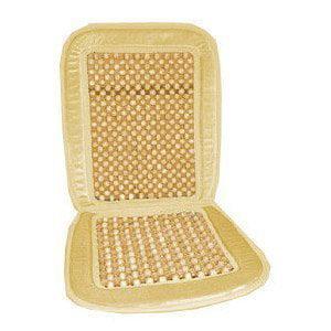Wood Bead Seat Cover Massage Cool Premium Comfort Cushion - Reduces Fatigue