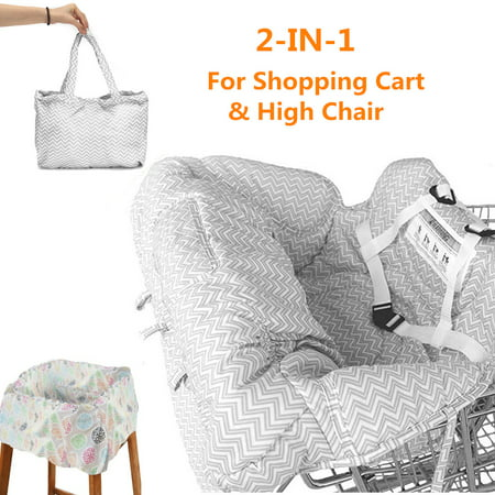 Portable Baby Kids Child Shopping Trolley Cart Seat Pad High Chair Cover Protector